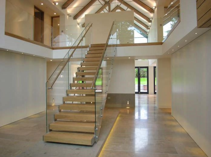 Bon Straight Stairs 1 Straight Staircase  Metal Frame Wooden Frame Lateral Stringer